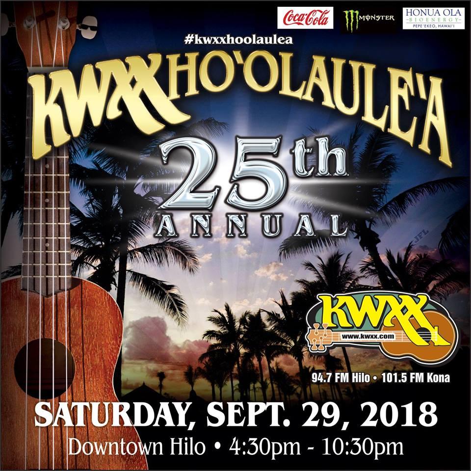 kwxx hoolaulea 2018 poster